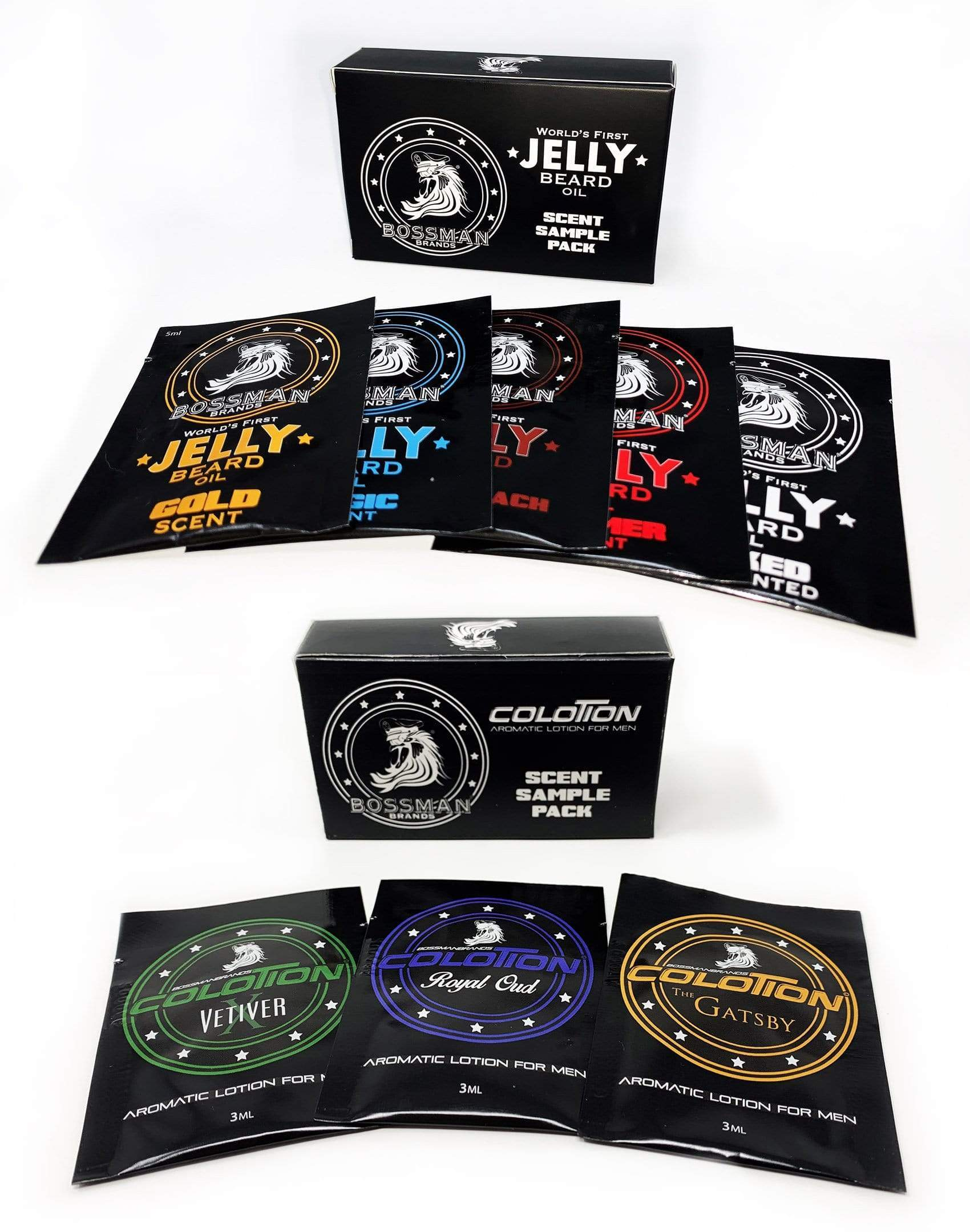 Bossman Jelly Oil & Colotion Combo Sample Kits