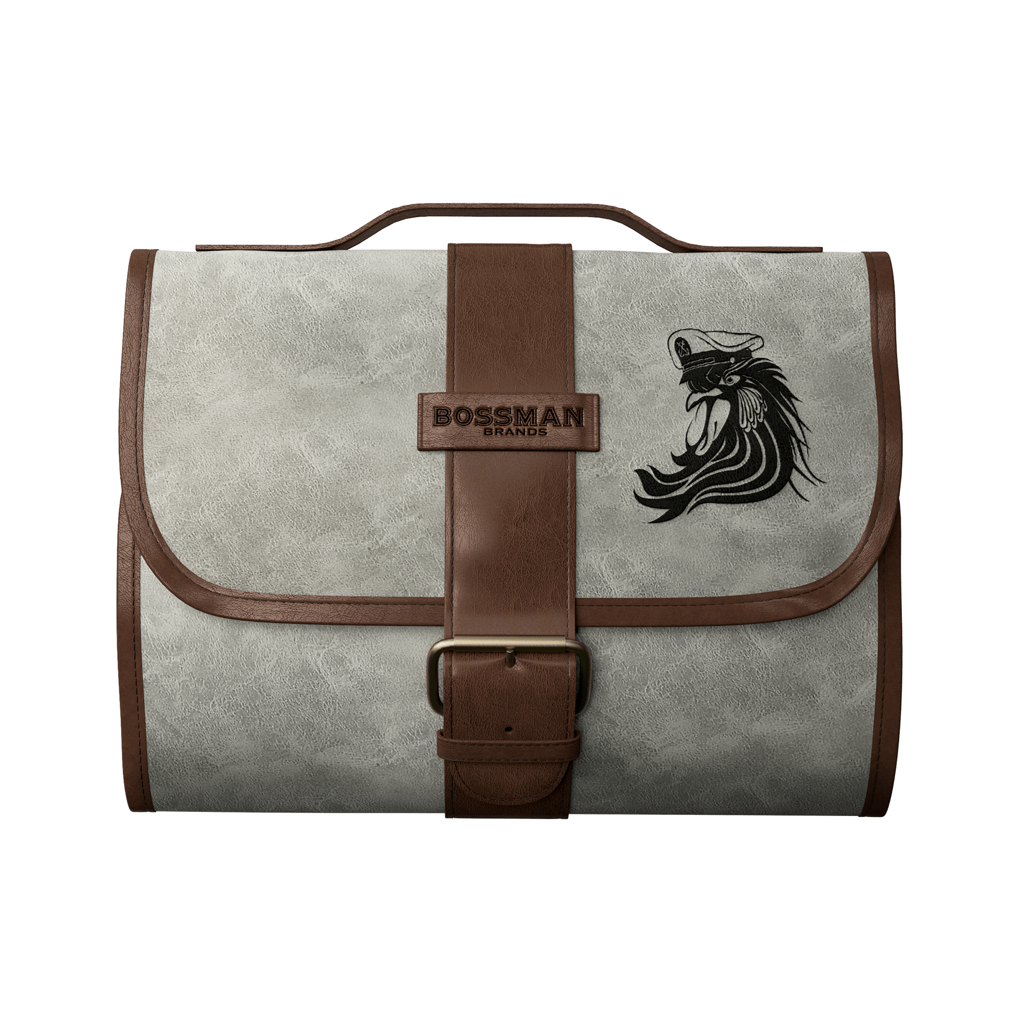 Bossman Hanging Toiletry Leather Bag