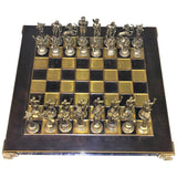 1970s Greek Mythological Two-Tone Chess Set