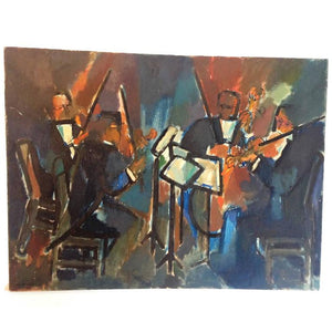 Abstract Jazz Musicians Painting by Meyer Tannenbaum