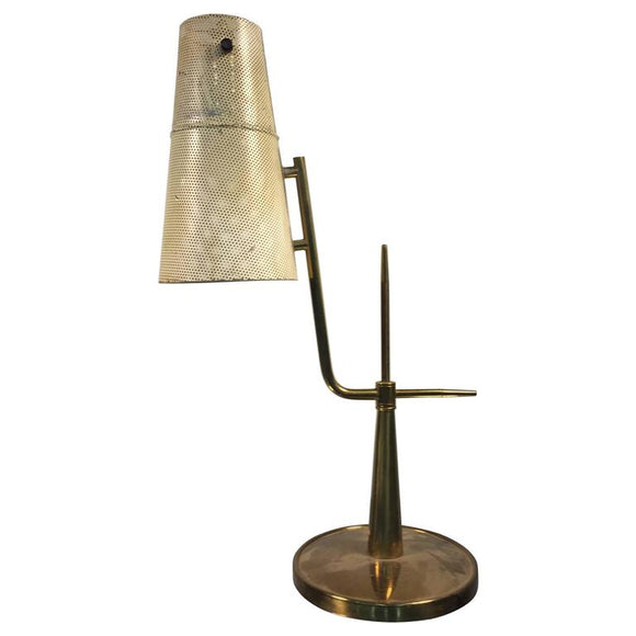 Amazing Articulating Desk Lamp in the Manner of Paavo Tynell, circa 1960