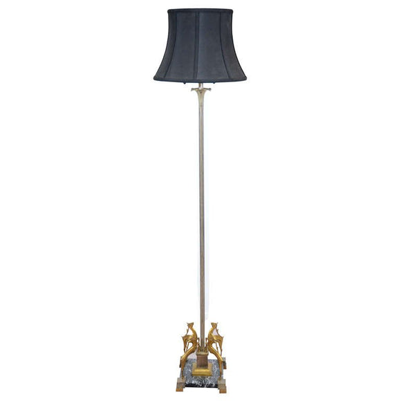 Art Deco Floor Lamp in the Manner of Edgar Brandt