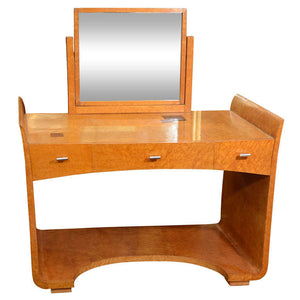 Art Deco Vanity Table with Mirror by Eugene Schoen