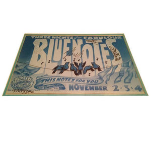 "Autographed Rare Neil Young and the ""Blue Notes"" Poster"