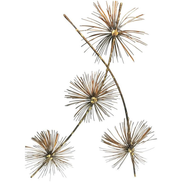 Beautiful Brass Curtis Jere Pom Pom Wall Sculpture