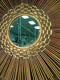 Beautiful Brutalist Sunburst Mirror Wall Sculpture