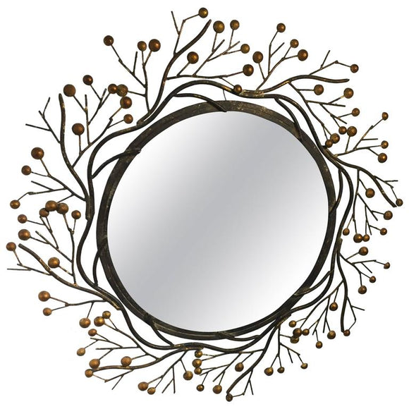 Beautiful Faux Bois Wall Mirror, circa 1970