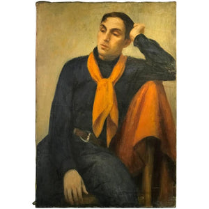 Beautiful Modern Italian Painting of a Young Man by Fabrizio Campanella