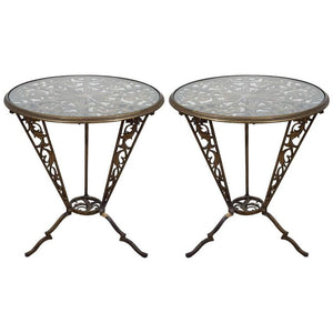Beautiful Pair of Art Deco Rena Rosenthal Tables by Karl Hagenauer