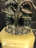 Beautiful Pair of Bookends with Birds in the Manner of Giacometti
