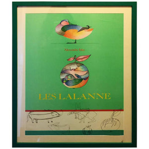 "Bright ""Les Lalanne - Alexandre Iolas"" Colorful Animalier Poster"
