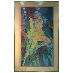 Brilliant and Colorful Serigraph of a Nude by Artist Leroy Neiman, Signed