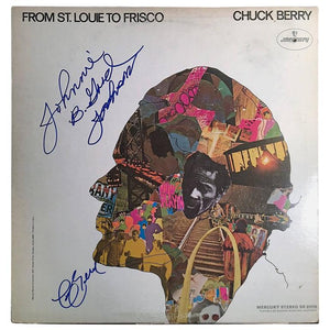 Colorful Autographed Chuck Berry Album Cover 'from St.Louie to Frisco