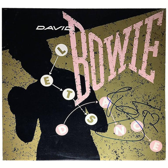 David Bowie Autographed 'Let's Dance' Single Record Cover