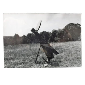 David Smith Photograph And Abstract Metal Sculpture