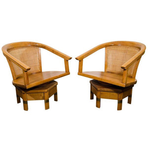 Elegant Edward Wormley for Dunbar Swivel Chairs