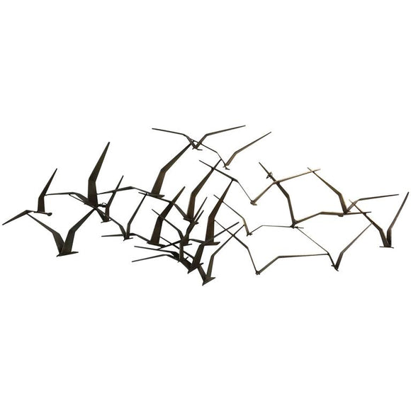 Elegant and Iconic Curtis Jere Birds in Flight Wall Sculpture