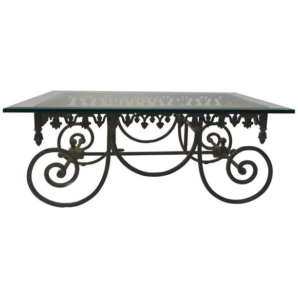 Exceptional 19th Century Wrought Iron French Bakers Table