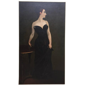 "Exceptional Painting after John Singer Sargent's, ""Madame X"""
