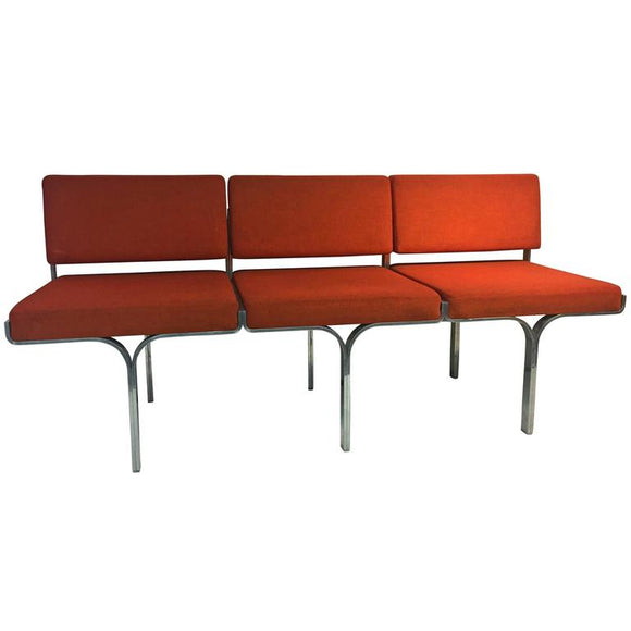 Fabulous Erwine and Estelle Laverne Bright Orange Bench for Laverne Originals