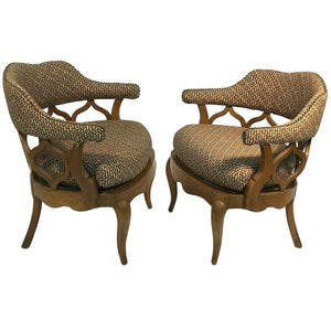 Fabulous Pair of Sculptural Lounge Chairs in the Manner of William Billy Haines