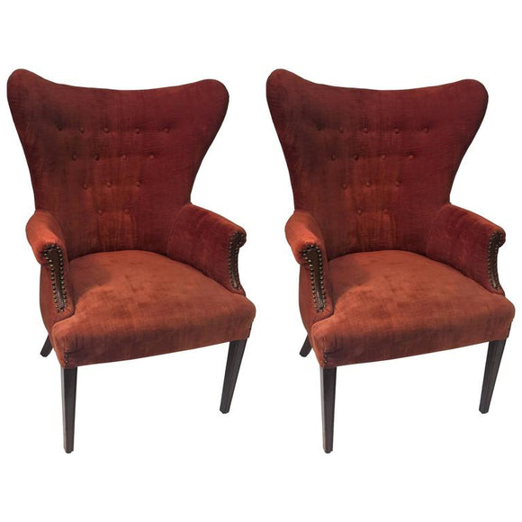 Great Pair of Hans Wegner Papa Bear/Italian Style Armchairs