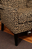 Hollywood Regency Leopard Print Canopy Chair
