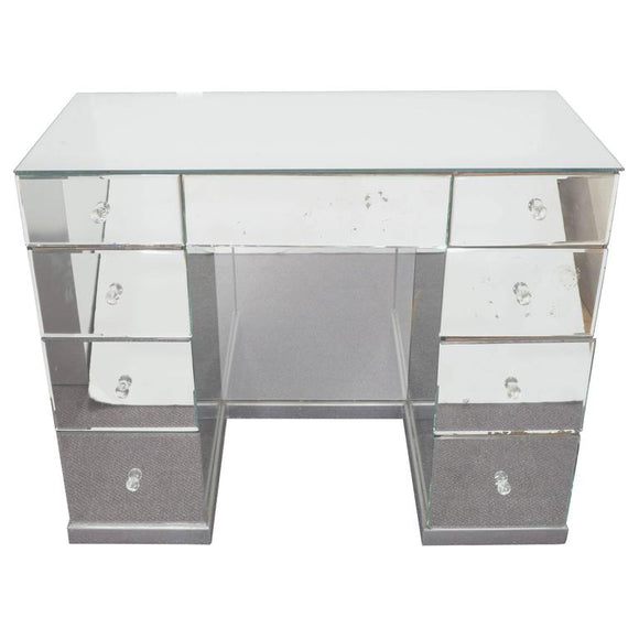 Hollywood Regency Mirrored Art Deco Desk $3,800
