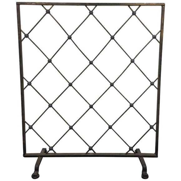 Incredible Iron Screen or Room Divider in the Manner of Jean Royère