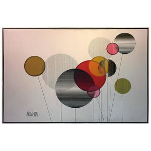 Large Scale Colorful Modernist Painting in the Manner of Alexander Calder