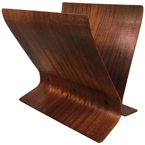 Magnificent Modern Bentwood Magazine Rack by Paul Rowan for Umbra
