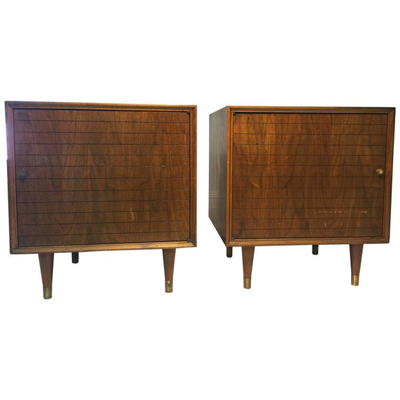 Magnificent Pair of Nightstands in the Manner of Paul McCobb, circa 1960