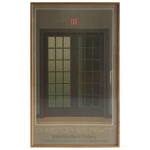 Modern Poster of French Doors by Canadian Artist Christopher Pratt