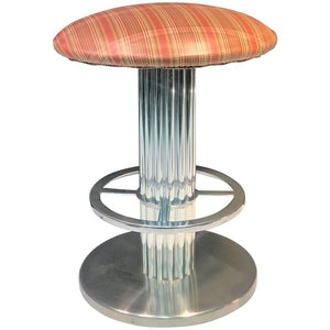 Modernist Brushed Chrome Stool by Designs for Leisure