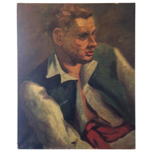 Muted Oil Painting of Fair Haired Man