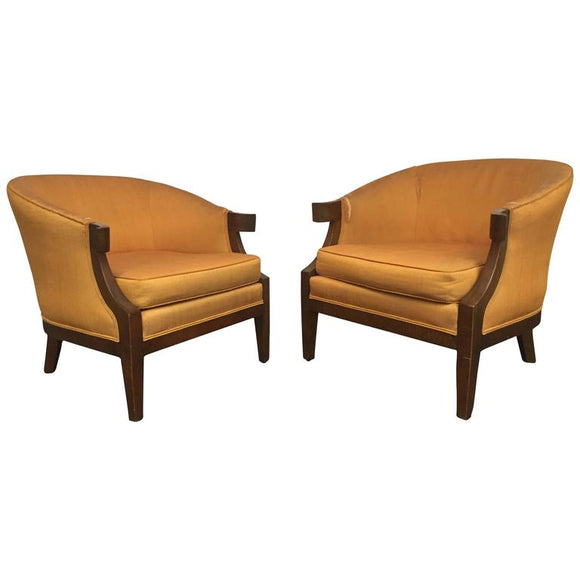 Pair of Art Deco Slipper Chairs in the Manner of Tommi Parzinger