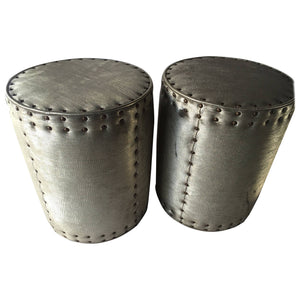 Pair of Drum Stools in the manner of Karl Springer