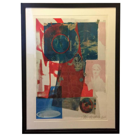 Robert Rauschenberg Pencil Signed 1968 Color Lithograph