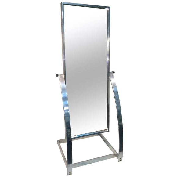 Spectacular Milo Baughman Modernist Full Length Mirror