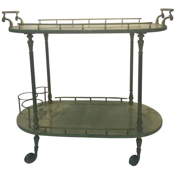 Terrific Italian Tea Cart by Aldo Tura, circa 1970