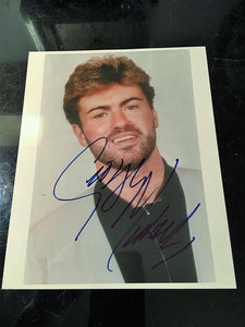 Autographed George Michael Photo (1/2)