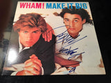 Two Autographed Wham Albums with George Michaels Signatures