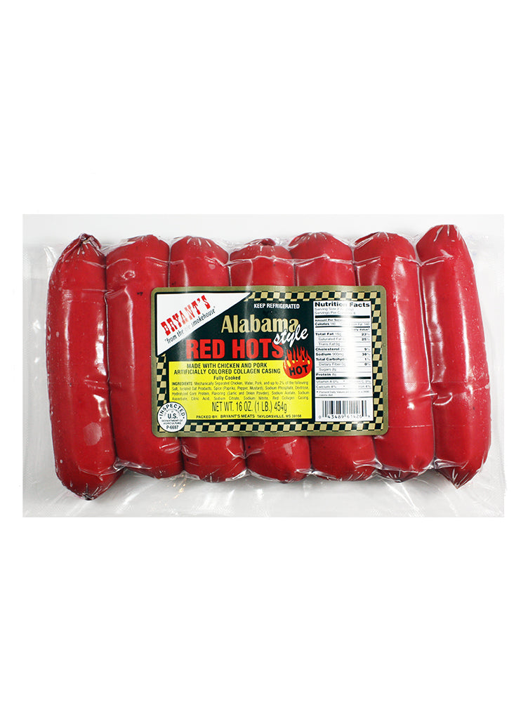 Bryant's Alabama Style Red Hots 6-Pack