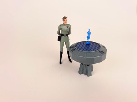 Star Wars Clone Wars (TCW) Admiral Yularen W/ Hologram Table - CW07 - Loose