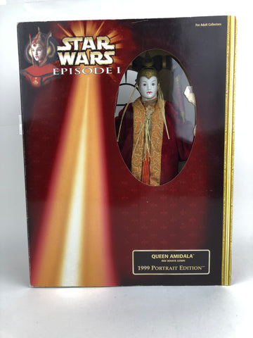 "Star Wars Episode 1 12"" 1/6 Scale  - Queen Amidala Portrait Edition (Red Senate Gown)"