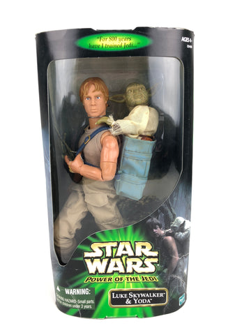 "Power of the Jedi POTJ 12"" 1/6 Scale  -  Luke Skywalker & Yoda (Dagobah Jedi Training)"