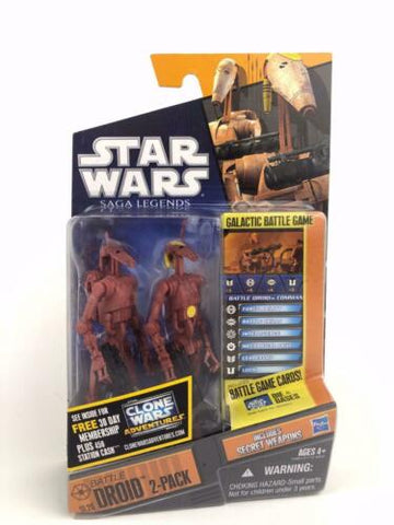 Star Wars Saga Legends Battle Droid 2-Pack - Brown (Attack of the Clones) - SL20