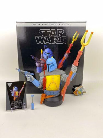 Star Wars Gentle Giant Boba Fett (Animated Holiday 2018 PGM) Mini Bust 240/550