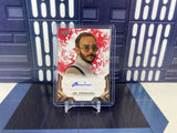 2020 Topps Star Wars The Mandalorian Omid Abtahi as Dr. Pershing Red Auto /99
