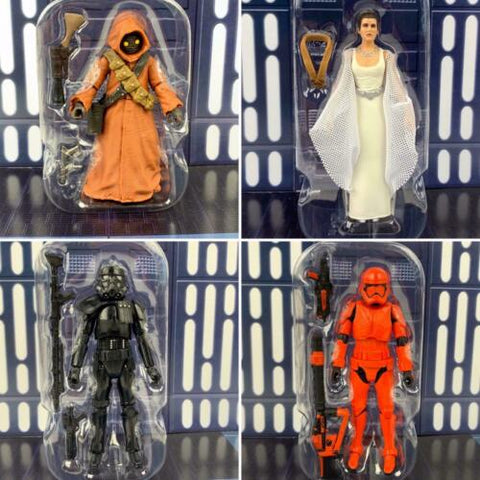Star Wars Vintage Collection Set - Leia Yavin Jawa Sith & Shadow Trooper - Loose